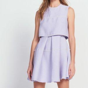 Sandro Purple Honeycomb Dress - Size 1